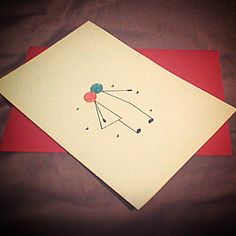 cute card made for bf's birthday :)