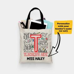 Dots and Stripes Personalization Custom Therapist Bag