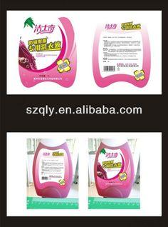 100% china la fabricación personalizada química diaria de detergente líquido etiquetas de venta al por mayor