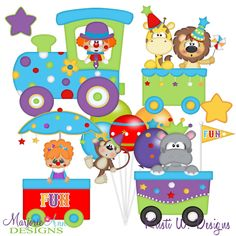 Big Top Party Train SVG-MTC-PNG plus JPG Cut Out Sheet(s) Our sets also include clipart in these formats: PNG & JPG