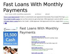 fast loans with monthly payments