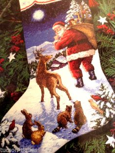 Dimensions Christmas Stocking Kit Needlepoint Counted Cross Stitch