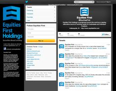 EFH's branding elements are carried through to their social media pages.