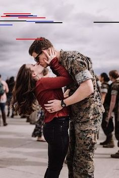 Marine and Wife reuniting at their homecoming after a long deployment at Marine Core Air Station Miramar with VMFA 225 by Morning Owl Fine Art photography San Diego. Military Couple Photography, Marine Core, Military Homecoming, Military Couples, Fine Art Photography, San Diego, Owl, Couple Photos