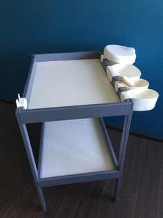 Table à langer Ikea relookée