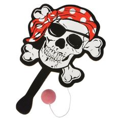 Pirate Paddle Ball  (Bulk Pack of 12 Paddle Balls) at theBIGzoo.com, a family-owned toy store.