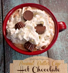 Hot Chocolate Recipe: Peanut Butter Cup Hot Chocolate #recipe #hotchocolate #stephen'shotcocoa