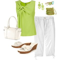 casual dress for summer, created by #megschneider on #polyvore. #fashion #style Matthew Williamson Old Navy