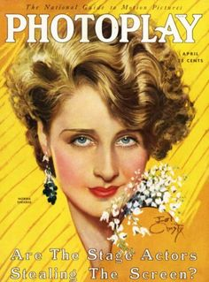 Norma Shearer  Photoplay Mag Cover Apr 1930  -  Earl Christy