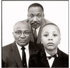 Richard Avedon - Reverend Martin Luther King, Jr. with his father and son, Atlanta, Georgia, 1963