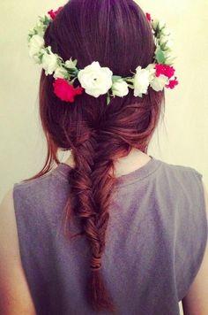 Fishtail & Flower Crown