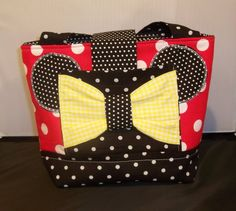 Girls Minnie Mouse Scripture Bag  or Tote by kleelong on Etsy, $24.50