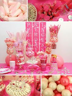 Birthday candy buffet for your daughter