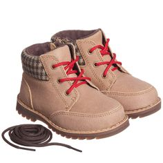 Boys Brown 'Orin' Suede Leather Boots, Ugg Australia, Boy