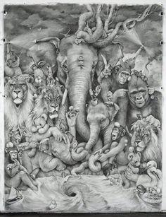 Pencil drawings - Adonna Khare