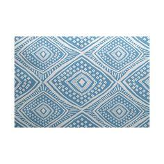 Zipcode Design Elaine Blue Indoor/Outdoor Area Rug Rug Size: 4' x 6'