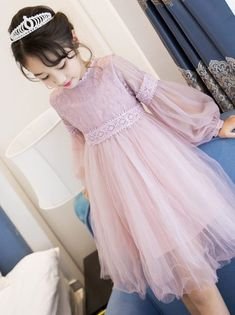 Cheap princess princess Buy Quality children children directly from China long sleeve princess dress Suppliers 2017 New Dresses For Girls Cute Lace Solid Long Lantern Sleeve Children Dress O-Neck Ball Grown Party Princess Baby Kids Clothes Girls Spring Dresses, Dresses Kids Girl, Kids Outfits, Children Dress, Ladies Dresses, Emo Outfits, Disney Outfits, Princess Dresses For Kids, Children Clothes