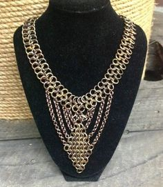 Beautiful chainmaille necklace!