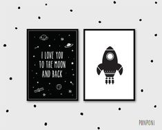 black and white kids room, black white nursery, black and white theme decor, Outerspace Boy Bedroom Pictures, Outerspace Theme Baby Boy Nursery, Outerspace Wall Art, Rocket wall art, rocket kids wall art, black white inspiration, scandinavian nursery decor, boys room, space and universe