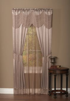 """Halley Complete One Rod Window Treatment by Achim. """"Window in a Bag"""" Set - Style # 1519  #Rod #Pocket #Curtains"""