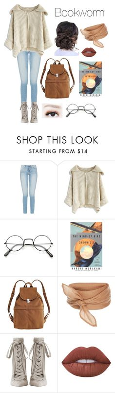 """""""Book in Hand"""" by deadlynight ❤ liked on Polyvore featuring Chicwish, Nook, BAGGU, Zimmermann and Lime Crime"""