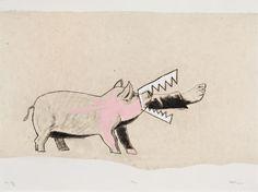 Pied de cochon - Marc Séguin - Galerie Simon Blais - 5420, boul. St-Laurent, Montréal Marc Seguin, Laurent, Moose Art, Collage, Images, Animals, Boutique, Visual Arts, Artists