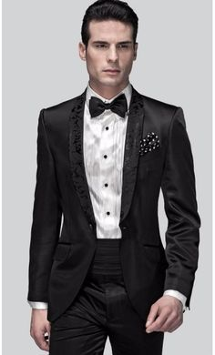 High Quality Men's Dinner Party Prom Suits Groom Tuxedos Groomsmen Wedding Blazer Suits (Jacket+Pants+Girdle+Bow Tie) NO:1241