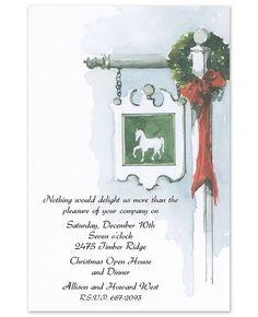 finestationery... combine christmas and new adddress...  White  Horse Invitations - Odd Balls (
