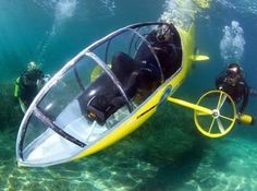 10 Weirdest (and Totally Cool) Pedal-Powered Gadgets   Pedal-powered Submarine