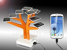 USB Solar Charger Tree can charge most known mobile phones and any USB interfacing digital devices. The solar tree can be recharged through direct sunlight or AC power. It's elegant, environmentally-friendly, and versatile solar charging gadget. New Gadgets, Gadgets And Gizmos, Electronics Gadgets, Cool Gadgets, Renewable Energy, Solar Energy, Solar Power, Ac Power, Wind Power