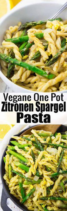 Frühlingsrezepte gesucht? Dann ist diese Pasta mit Spargel in Zitronensauce genau richtig für euch! Ich liebe Pasta Rezepte einfach über alles! Mehr vegetarische Rezepte und vegane Rezepte findet ihr auf veganheaven.de! via @veganheavende