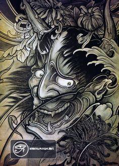 Ý nghĩa 20 hình xăm mặt quỷ Oni đẹp nhất Nhật Bản - Oni tattoo - y nghia hinh xam mat quy hanya - hình xăm quỷ hanya đẹp