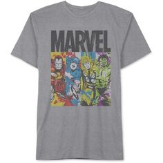 Jem Men's Big & Tall Marvel Avengers Panels Graphic-Print T-Shirt (62 BRL) ❤ liked on Polyvore featuring men's fashion, men's clothing, men's shirts, men's t-shirts, remeras hombre, tops, heather grey, mens big and tall t shirts, mens graphic t shirts and mens panel shirts