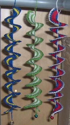 Download Crochet spiral with/without beads for windows or earrings Sewing Pattern | Crochet/Knitting | YouCanMakeThis.com