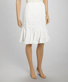 Look at this #zulilyfind! White Olivia Skirt #zulilyfinds