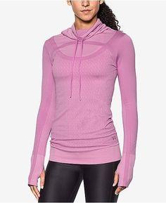 9fd421839c UNDER ARMOUR Women s Threadborne Seamless Funnel Neck Long Sleeve Shirt