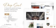 Deep Soul is a creative, and modern Wordpress theme. It is suitable for you as a fashion, lifestyle, travel or creative blogger, who would like to spread your word! #ad