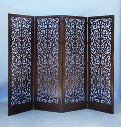 room dividers! This one is laser cut, and I prefer hand carved, but... it's still nice!
