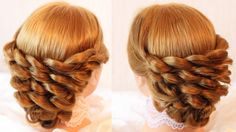 cette coiffure me donne envie de coudre des robes de princesses !