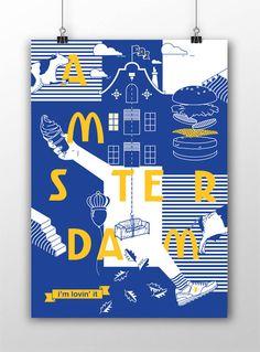 ¿Qué pasaría si el color característico de McDonald's fuera el azul?