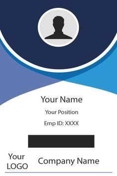 Identity Card Design, Name Card Design, Company Id, Company Names, Id Card Template, Card Templates, Employee Id Card, School Advertising, Free Id