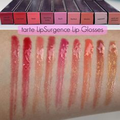 tarte glamazon pure performance 12-hour lipstick swatches - Google ...