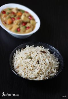 jeera rice recipe – one of the most commonly made flavored rice from the North Indian cuisine. To make this simple and easy rice, long grain rice is cooked with jeera (cumin) and other mild spices. It is served with veg and non-veg gravy side dishes like veg kurma curry, navratan korma, butter masala, palak …
