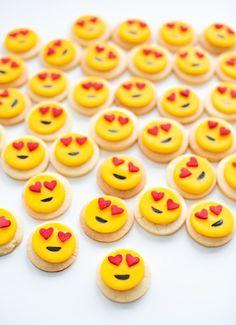 Easy Mini Heart Emoji Sugar Cookies