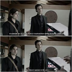 """""""What is it that you enjoy about Fillory? Series Movies, Book Series, Funny Tv Quotes, The Magicians Syfy, All Tv, Fandoms, Narnia, Hogwarts, Movie Tv"""
