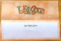 Get Well Soon Matching Large Dl Insert by Joyce Watson