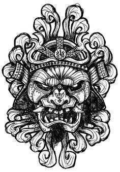 For nick tattoo sketches, tattoo drawings, art drawings, tattoo art, thai tattoo Tattoo Sketches, Tattoo Drawings, Art Drawings, Tattoo Art, Samourai Tattoo, Hannya Tattoo, Oriental Tattoo, Samurai Art, Chest Tattoo