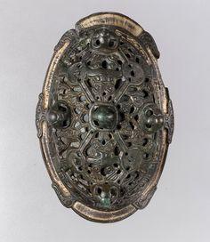 Oval Brooch, 900–1000 Made in Scandinavia Culture:Viking Medium:Copper alloy, gilt