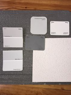 Choosing exterior colours - dulux milton moon, dulux flooded gum, dulux silkwort, dulux tranquil retreat, colorbond shale grey, colorbond surfmist, colorbond basalt,