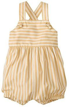 Adorable baby bubble is the comfiest in supersoft cotton poplin.just a quick sweep over the head and she's ready to hear ooohs and aaahs everywhere you take her. Baby Girl Romper, Baby Dress, Baby Girl Fashion, Kids Fashion, Baby Boy Outfits, Kids Outfits, Baby Frocks Designs, Cute Baby Clothes, Kids Wear